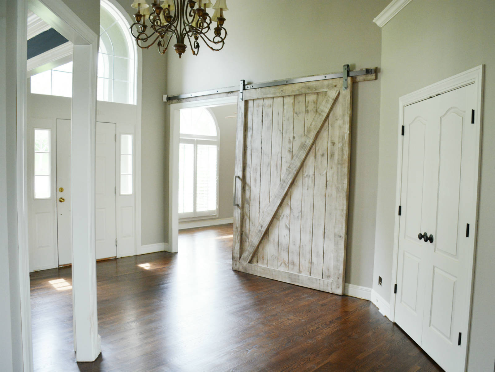 Sliding Door Hardware in Entry